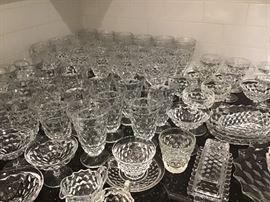 Lots of American Fostoria Glassware