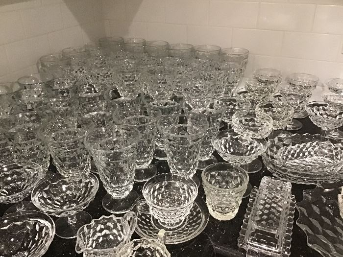 Lots of American Fostoria Glassware
