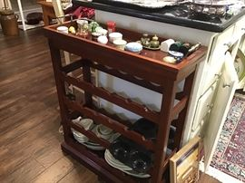 Wine Rack, Collection of small Boxes