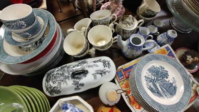 China, glassware, flatware, crystal, curios and much, much more.