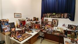 Just a small sample of entire room dedicated to sci-fi, fantasy, comics, super heroes, horror - a must see.