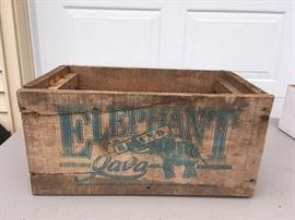 Elephant Brand Java Wooden Box