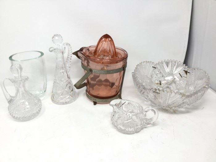 Crystal and Pink Glass https://ctbids.com/#!/description/share/116294