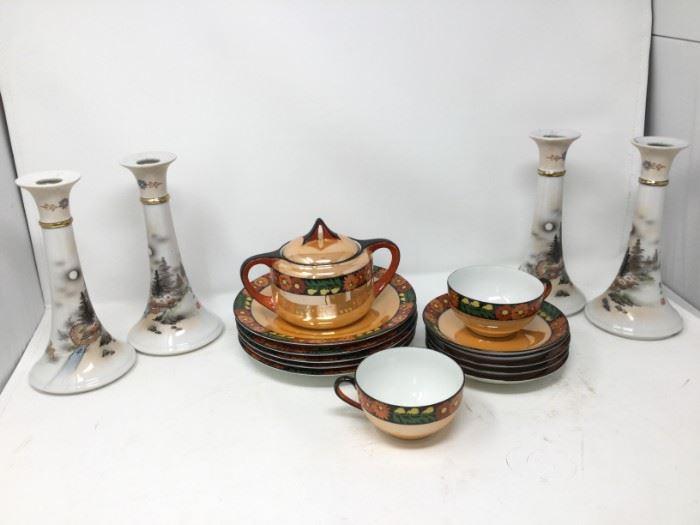 Noritake Set and Candlesticks https://ctbids.com/#!/description/share/116292