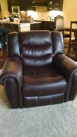 Brand new leather recliner.