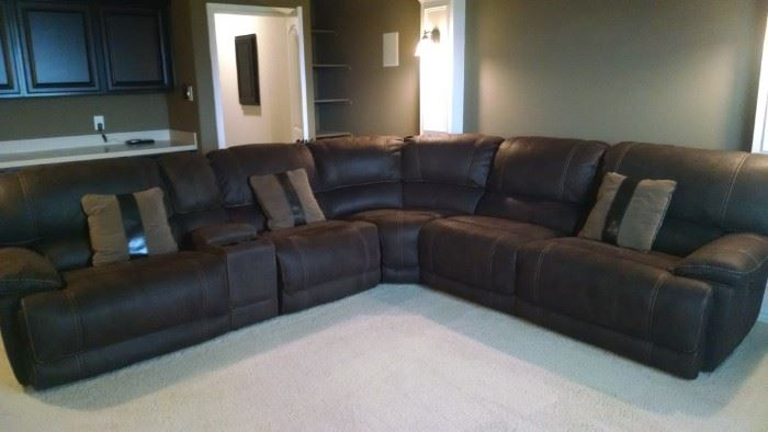 Recling Sectional Media Room furniture - barely used