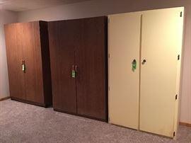 Three large storage units