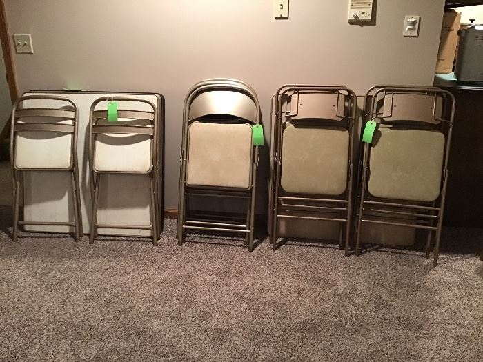 Several card tables & chairs