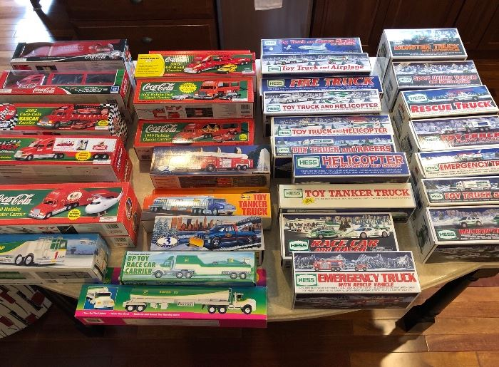 Hess, Coke, BP, Sunoco Collectible Toys. Excellent Condition in Original Boxes!
