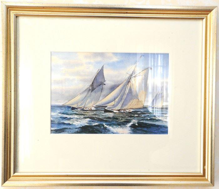 Donald Demers original watercolor