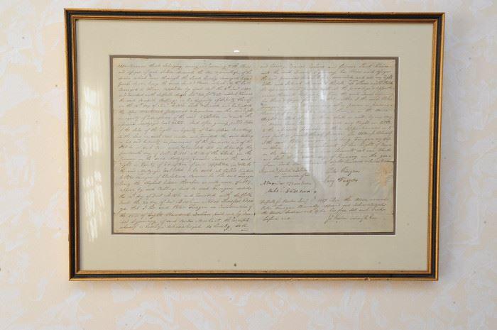 Framed correspondence