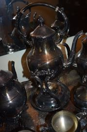Gorgeous Victorian Tea Set with Tray