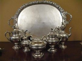 Circa 1860s Five Piece Ball, Black & Company 950/1000 Silver Tea and Coffee Service.  Note: this standard is higher than the sterling standard which is 925/1000.