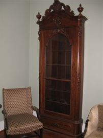 Rare C. 1850 Rococo Revival Rosewood Bookcase.  Likely by J. & J.W. Meeks of  New York (One of Two)