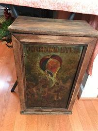 Antique Diamond Dyes Cabinet