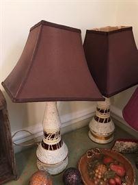 Great pair of vintage lamps