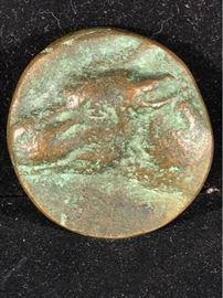 Ancient Greek or Roman Bronze Coin