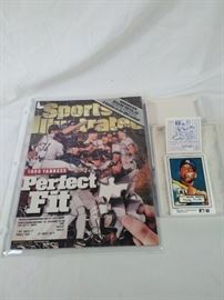 Mickey Mantle ceramic trading card, Yankees sports illustrated
