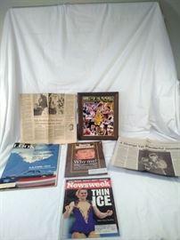 Assorted sports memorabilia, Nancy Kerrigan, Tonya Harding