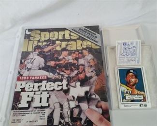 Mickey Mantle official Topps collectible China baseball card, Sports Illustrated Yankees 1998 win https://ctbids.com/#!/description/share/121955