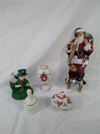 lot of 5 holiday collectibles , Lenox , Bradford Exchange , Belleek https://ctbids.com/#!/description/share/121962
