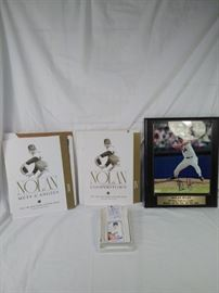 Lot of 3 Nolan Ryan collectibles, ceramic Topps card, signed autograph picture, The Life and Times  https://ctbids.com/#!/description/share/121966
