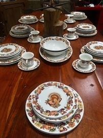 Thanksgiving dishes, service for 12