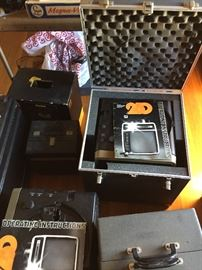 Many Projectors that are in original cases.