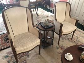 Two Victorian High Back Chairs