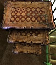 Florentine stacking tables