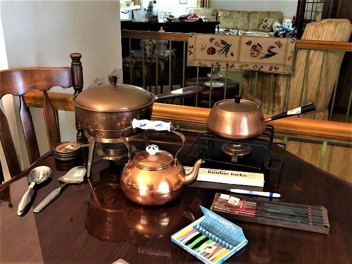 copper serving pieces