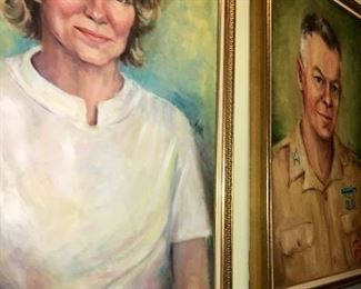 Artist signed portraits by Swink