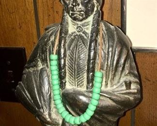 Signed Indian bust of Sitting Bull