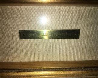 Utrillo signature plate