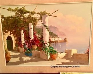 Ciappo signed painting two of three