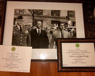 Prince Charles, Col. Allen photo and two related photos