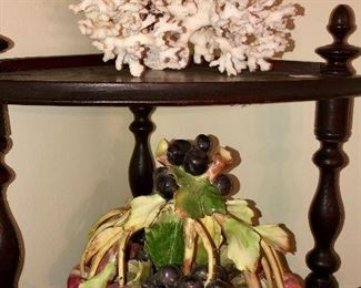 Coral, Italian bisque Capodimonte fruit basket