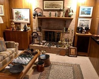 Family room with various collections.
