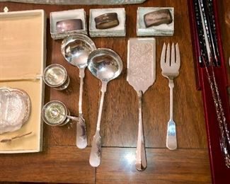 Sterling and silver plate items