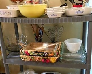 Various casserole dishes and covers
