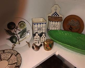 German pottery pieces