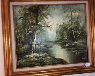 original oil painting by Engel
