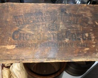 Old Hershey wooden box