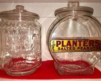 Old planters peanut jars
