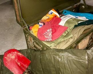 Military items, boy-scout items and various youth items