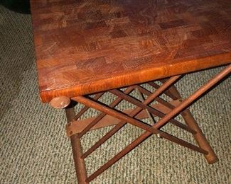 Teak, danish style table, there are several cutting boats or. Hesse boards the match this piece.