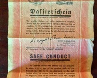 WWII German soldier safe conduct pass for surrendering soldiers.