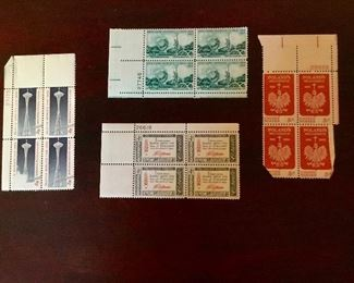 WORLDS FAIR POSTAGE STAMPS 1962 and 1965, sampling of other postage stamps available