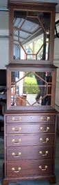 Cabinet curio pair by Hickory Chair