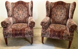 Chairs winged back Ralph Lauren pair